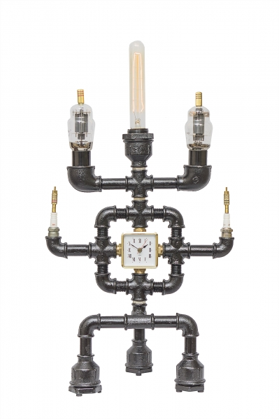 Светильник с часами EC630